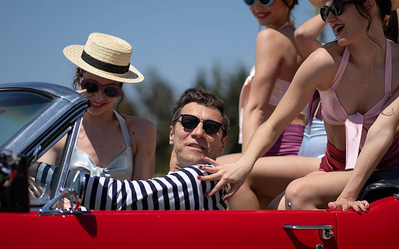 a man in a car with girls in the backseat film still fantasia